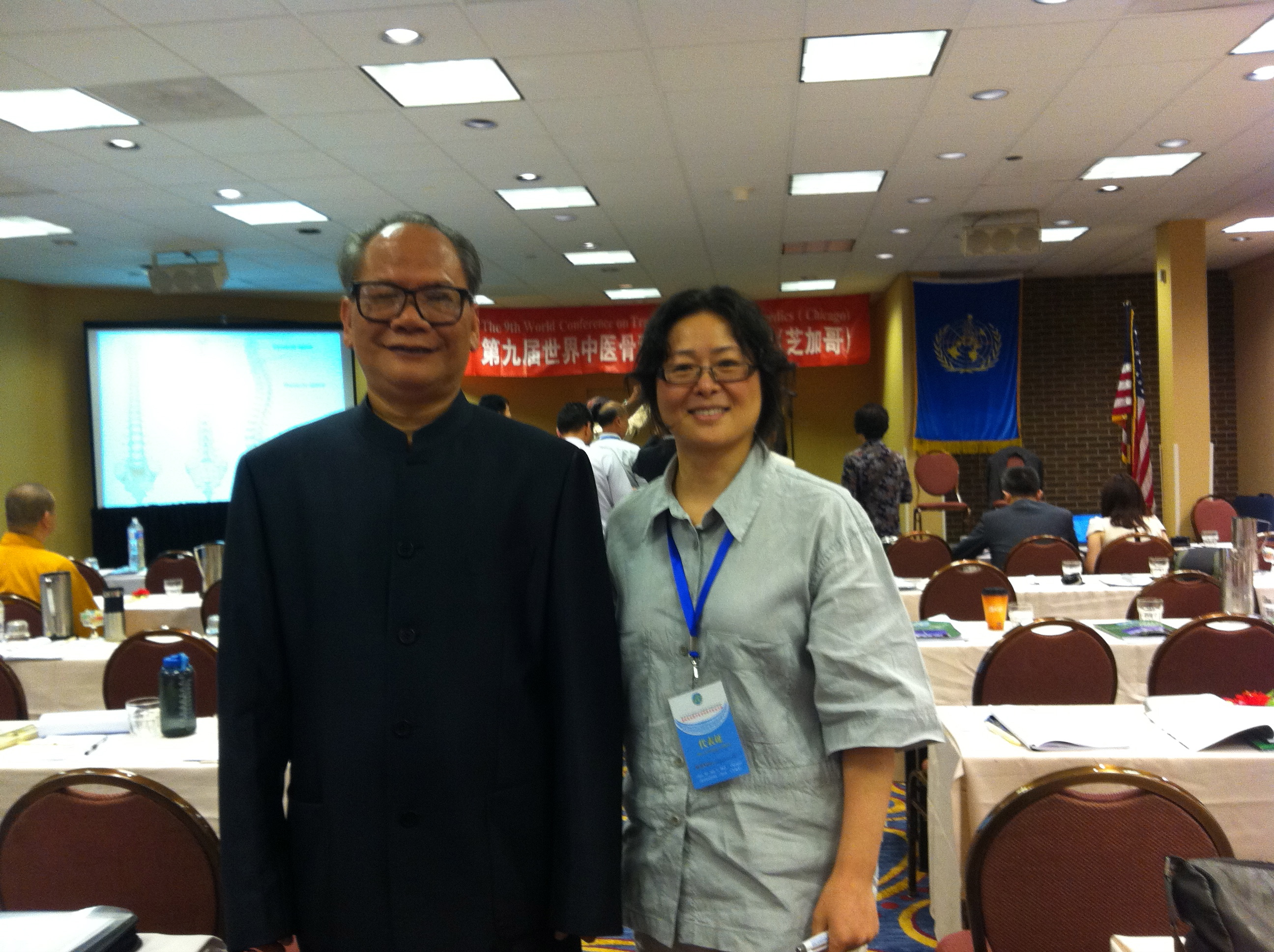 With Professor Wei, YiZhong from China at the 9th World Conference on Traditional Chinese Orthopedics in Chicago